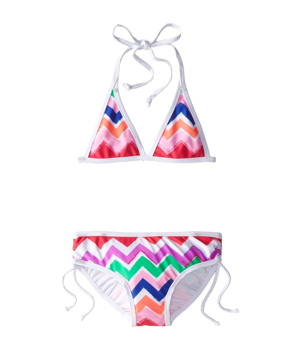Seafolly Kids - Go-Go-Girl 70's Halter Bikini Set (Toddler/Little Kids) (Multi) Girl's Swimwear Sets