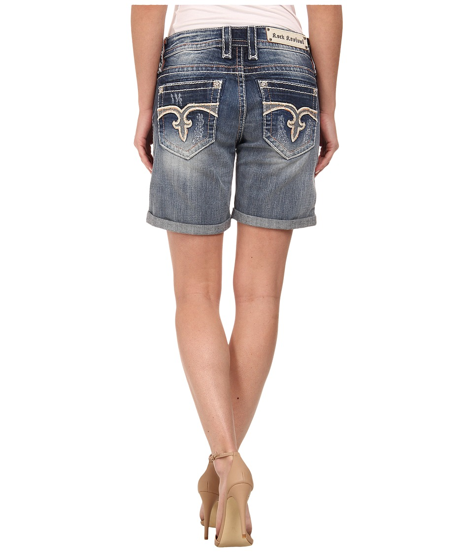 Rock Revival - Emilie Rh13 Easy Short in Medium Indigo (Medium Indigo) Women's Shorts