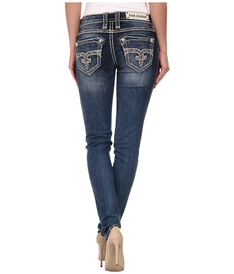 Rock Revival - Nikola S206 Skinny in Medium Indigo (Medium Indigo) Women