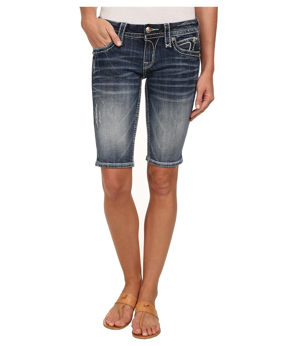 Rock Revival - Semak M3 Bermuda Short in Medium Indigo (Medium Indigo) Women