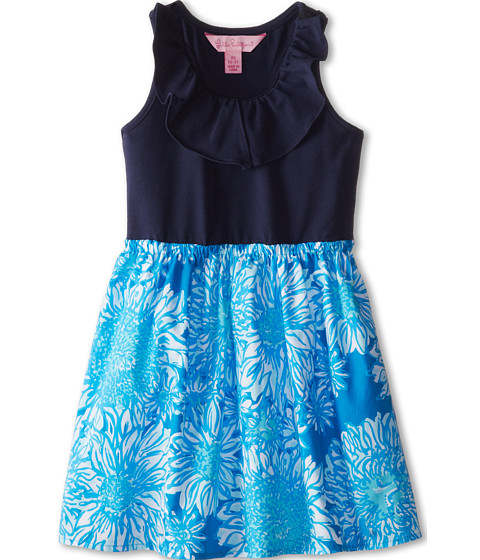 Lilly Pulitzer Kids - Little Loranne Dress (Toddler/Little Kids/Big Kids) (Ariel Blue Lion in the Sun) Girl's Dress
