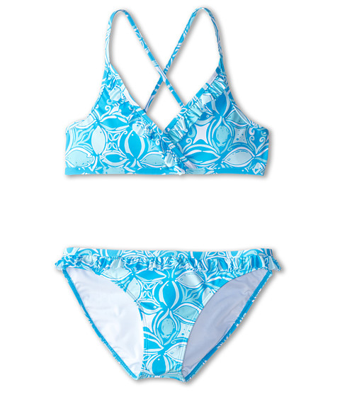 Lilly Pulitzer Kids - Sansa Bikini (Toddler/Little Kids/Big Kids) (Ariel Blue What A Racquet) Girl