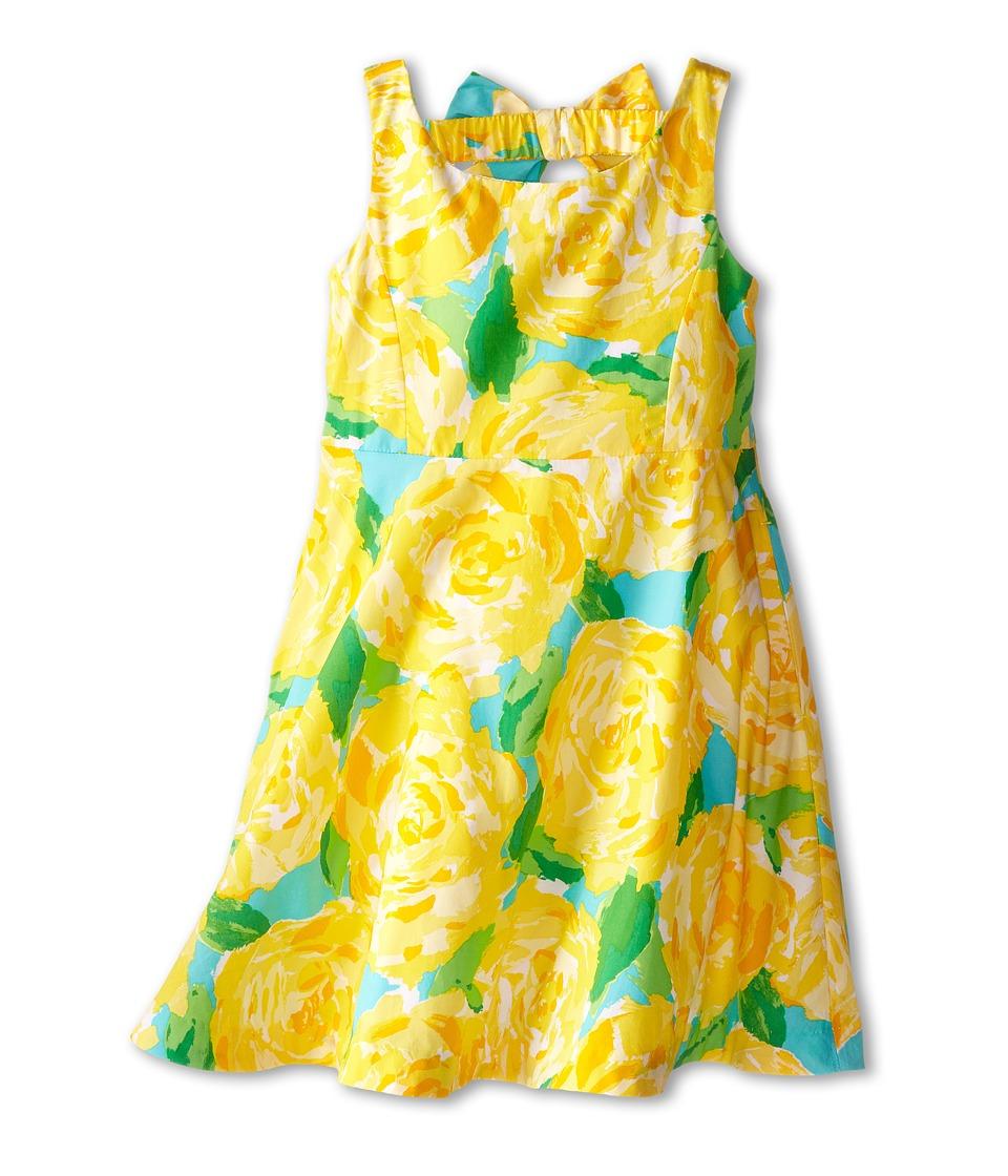 Lilly Pulitzer Kids - Kaya Dress (Toddler/Little Kids/Big Kids) (Sunglow Yellow First Impression) Girl