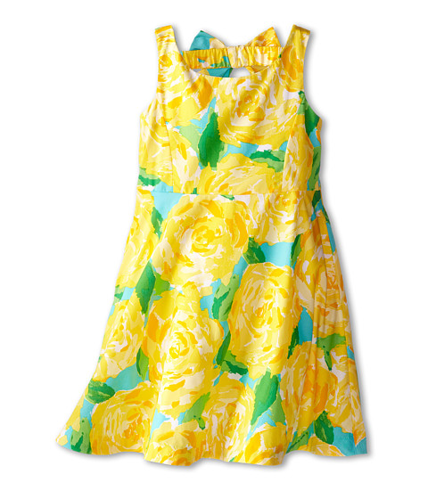 Lilly Pulitzer Kids - Kaya Dress (Toddler/Little Kids/Big Kids) (Sunglow Yellow First Impression) Girl