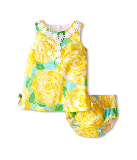Lilly Pulitzer Kids - Baby Lilly Shift Dress (Infant) (Sunglow Yellow First Impression) Girl