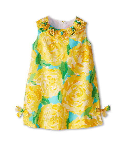 Lilly Pulitzer Kids - Little Lilly Classic Shift Dress (Toddler/Little Kids/Big Kids) (Sunglow Yellow First Impression) Girl's Dress