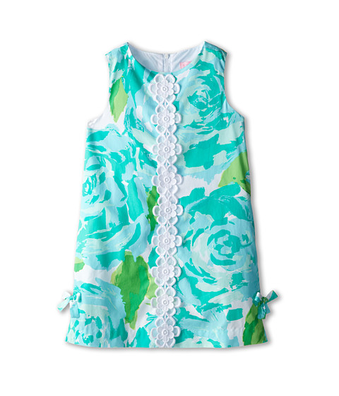 Lilly Pulitzer Kids - Little Lilly Classic Shift Dress (Toddler/Little Kids/Big Kids) (Poolside Blue First Impression) Girl