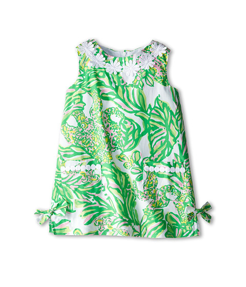 Lilly Pulitzer Kids - Little Lilly Classic Shift Dress (Toddler/Little Kids/Big Kids) (Resort White Seeing Pink Elephants) Girl