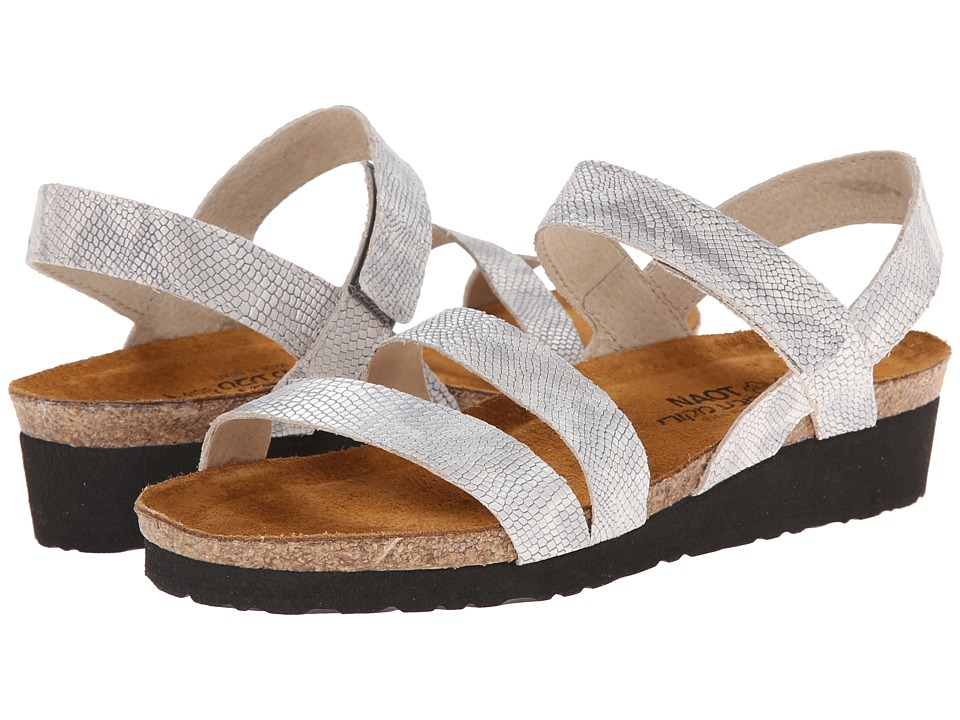 Naot Footwear - Kayla (Silver Snake Leather) Women's Sandals