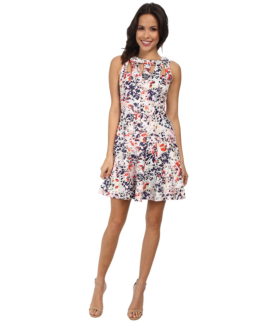 Jessica Simpson Sleeveless Panel Fit and Flare Dress (Print) Women