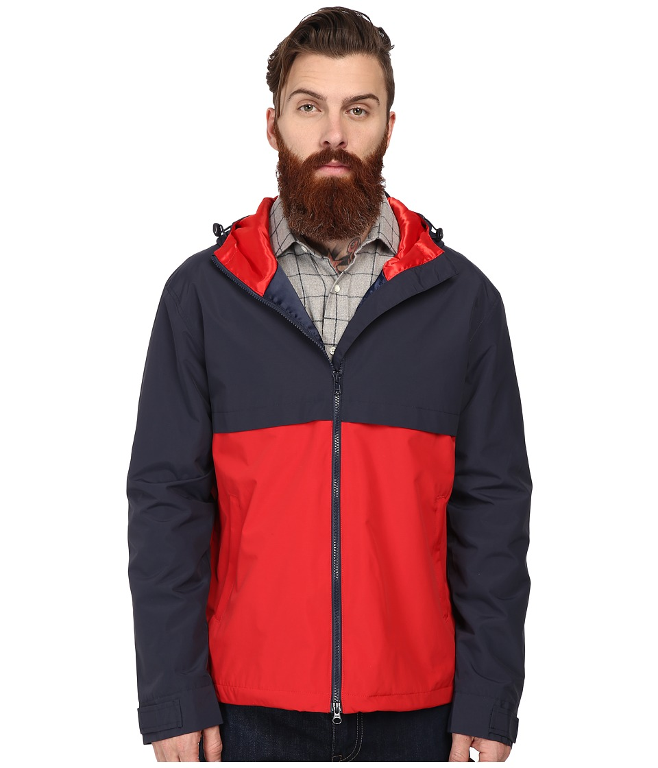 Gant Rugger - R. Nylon Hoodie (Navy) Men's Coat