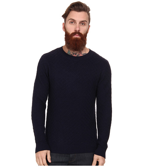 Gant Rugger - R. Diamond Cr e (Navy) Men's Long Sleeve Pullover
