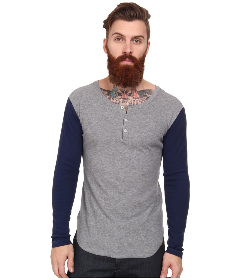 Gant Rugger - R. Waffle Granpa (Dark Grey) Men's Long Sleeve Pullover
