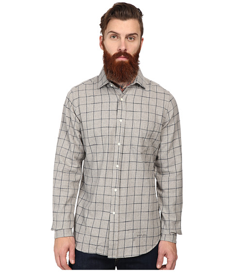 Gant Rugger - R. Slub Flannel H-Spread (Grey Melange) Men