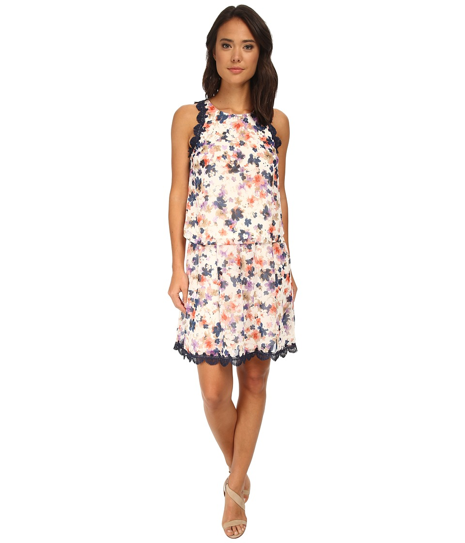 Jessica Simpson - Floral Chiffon Two-Piece Dress Set (Print) Women's Dress