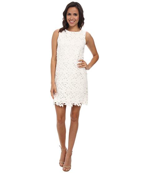 Jessica Simpson - Lace Shift Dress (White) Women's Dress