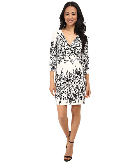 Jessica Simpson - Faux Wrap Dress (Print) Women