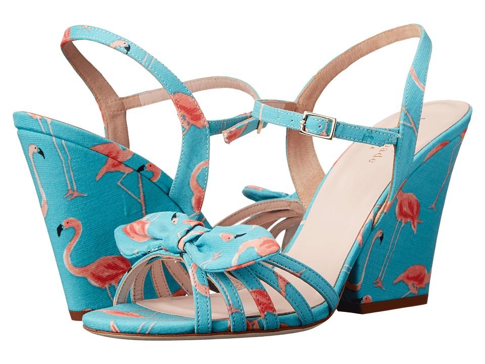 Kate Spade New York - Indie (Turquoise Festive Flamingo Printed Fabric) Women
