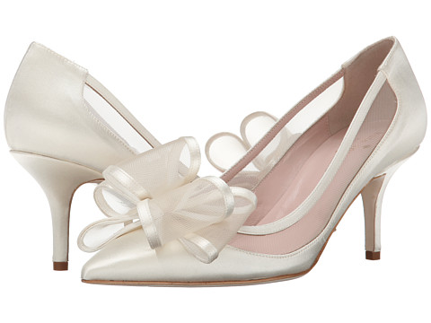 Kate Spade New York - Jackie (Ivory Satin/Taupe Mesh) High Heels