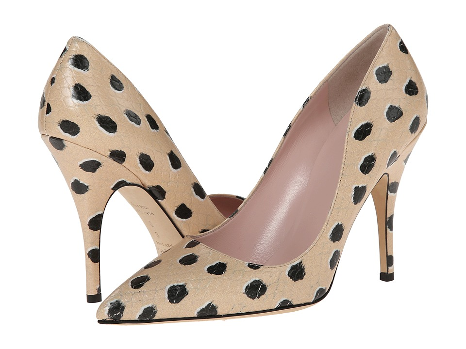 Kate Spade New York - Licorice (Black Dot Snake Printed Leather) High Heels