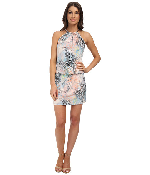 Jessica Simpson - Bungee Necklace Printed Dress (Print) Women