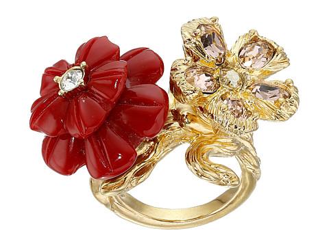 Alexander McQueen - 2 Flowers Ring (Multi) Ring