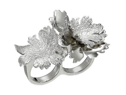 Alexander McQueen - Lotus Flower Double Ring (New Palladium) Ring