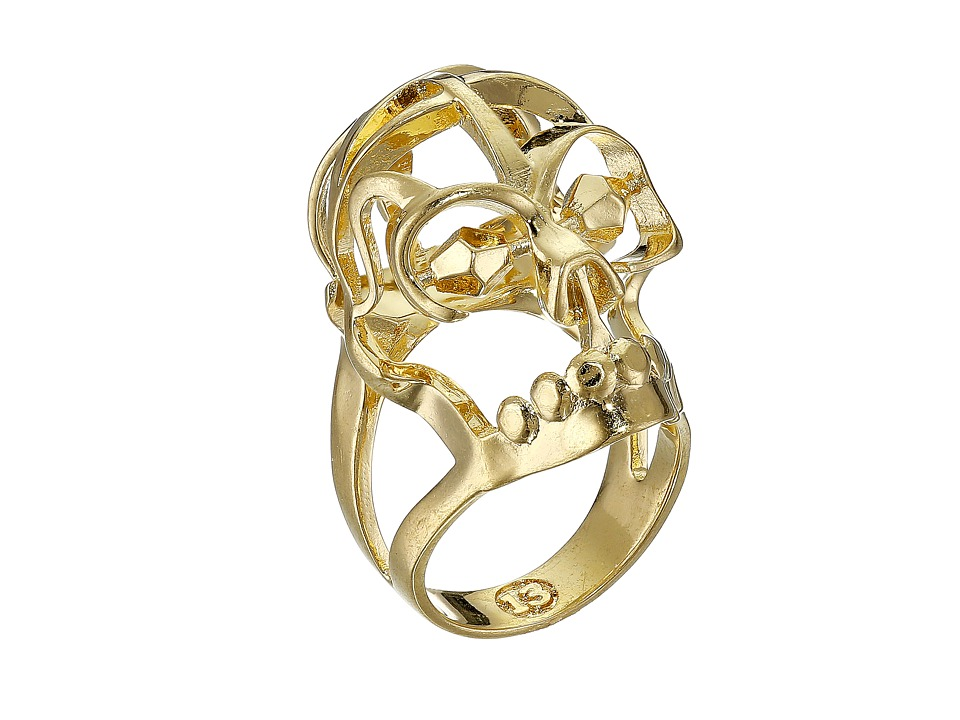 Alexander McQueen - Deco Skull Small Ring (New Oro) Ring