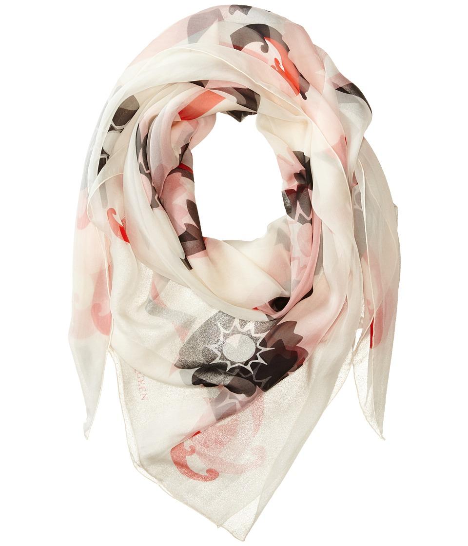 Alexander McQueen - Kansai Kimono Scarf (Ivory/Pink) Scarves