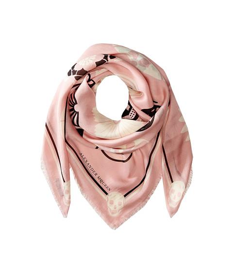 Alexander McQueen - Lotus Skull Scarf (Pink/White) Scarves