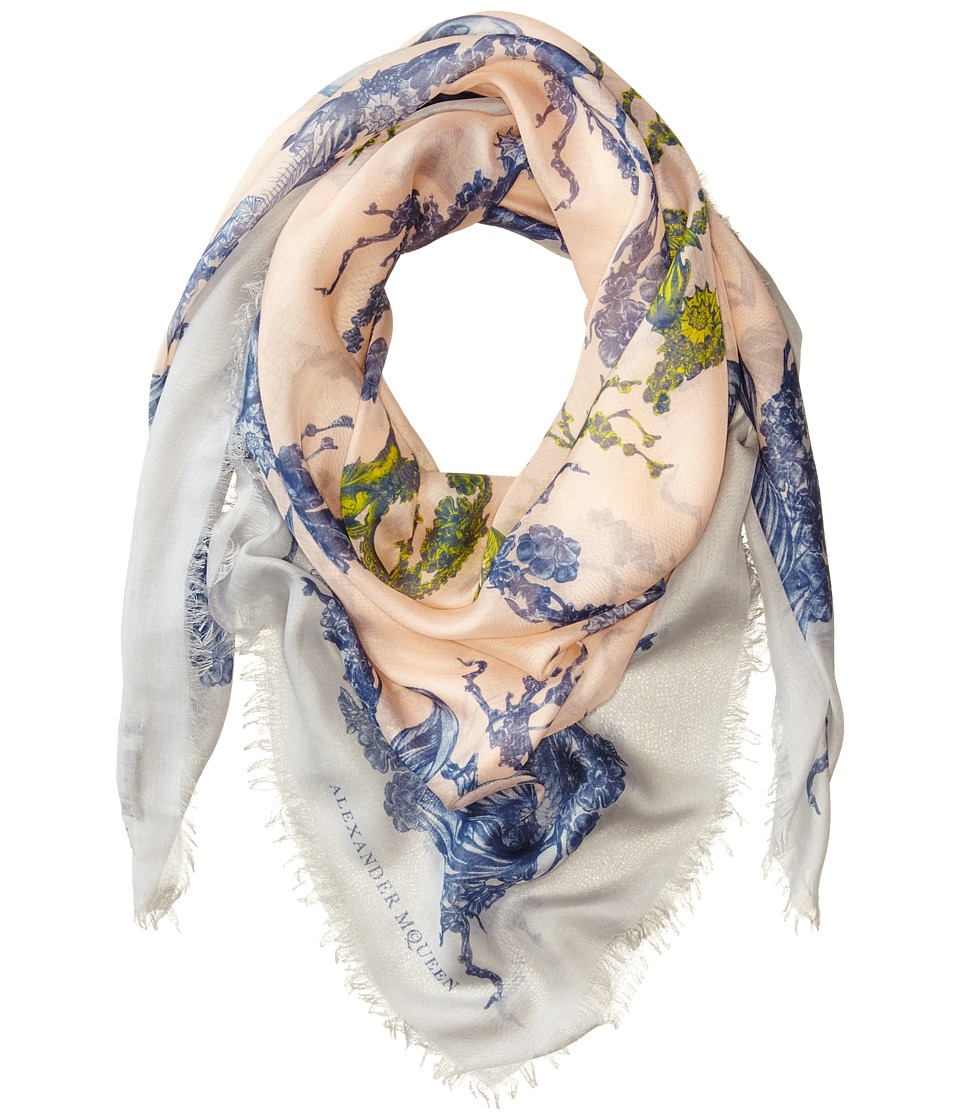 Alexander McQueen - Mcqueen Colour Scarf (Rose/Light Grey) Scarves