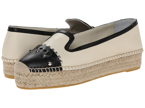 Alexander McQueen - Two-Tone Espadrille (Black/Silk White) Women's Shoes