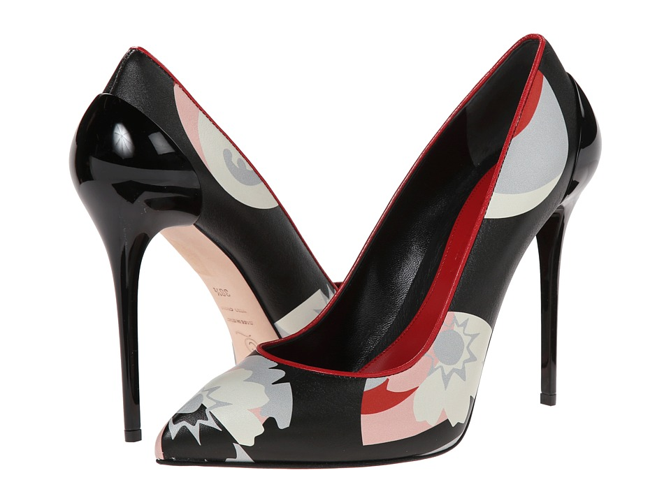 Alexander McQueen - Cocktail Print Pump (Multi/China Red) High Heels