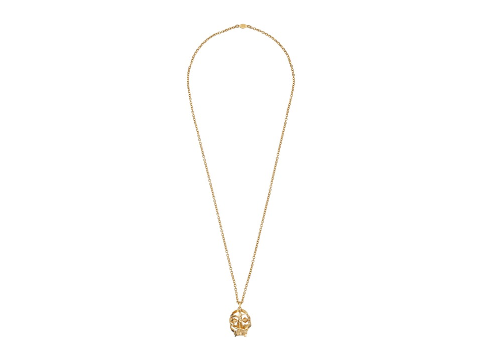 Alexander McQueen - Deco Skull Pendant (New Oro) Necklace