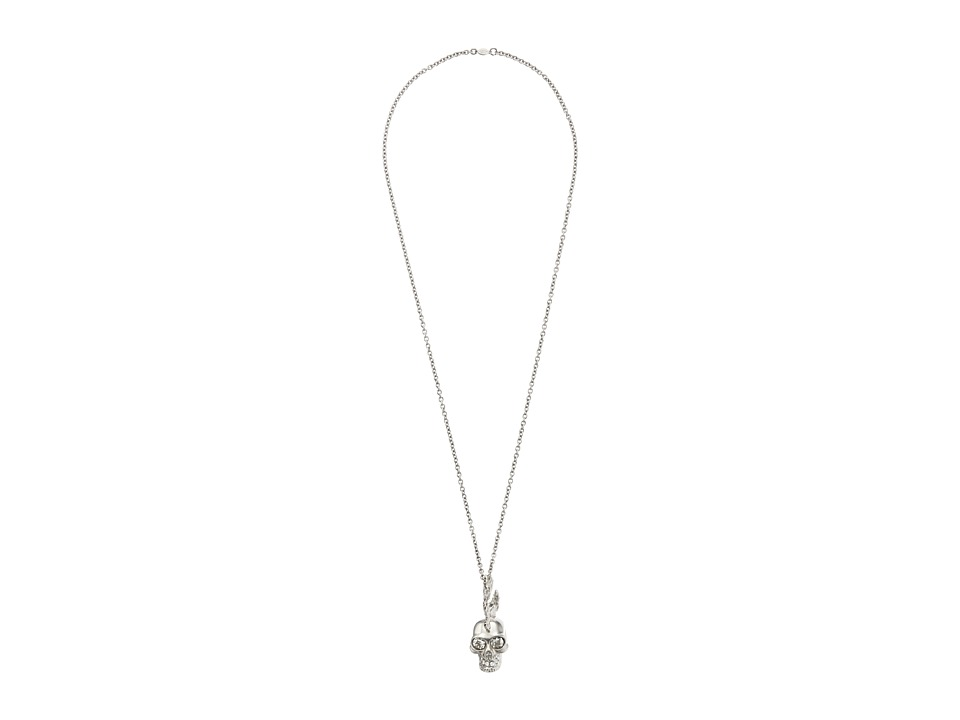 Alexander McQueen - Skull Punk Fish Pendant (Crystal Silver Shade) Necklace
