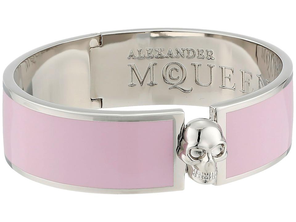 Alexander McQueen - Skull Button Cuff (Geisha Pink) Bracelet