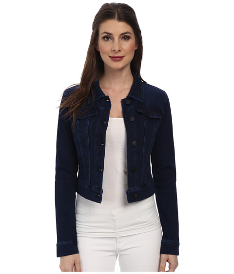 Liverpool - Cropped Powerflex Denim Jacket (Dark Americana Blue) Women's Coat