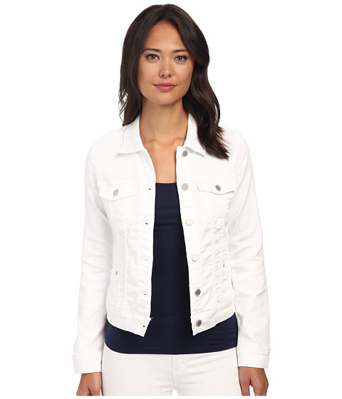 Liverpool - Pigment-Dyed Tencel Knit Denim Jacket (White) Women