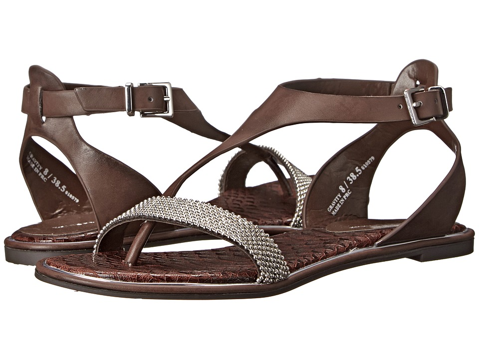 Chinese Laundry Gravity Chocolate Soft Burnished Womens Sandals