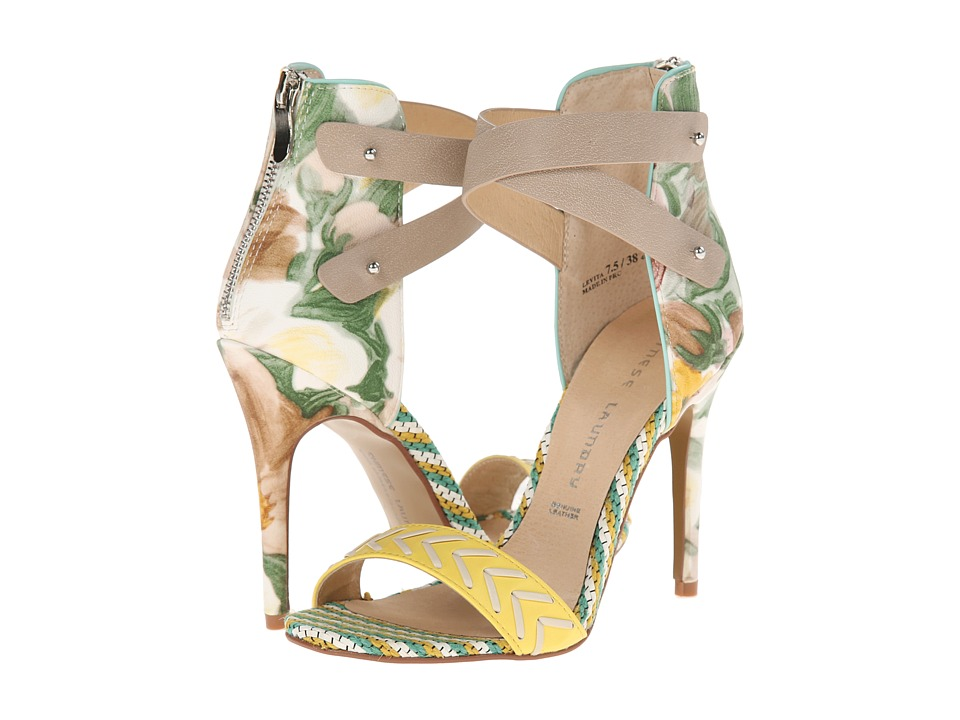 Chinese Laundry - Levita (Yellow Multi Floral Print) High Heels