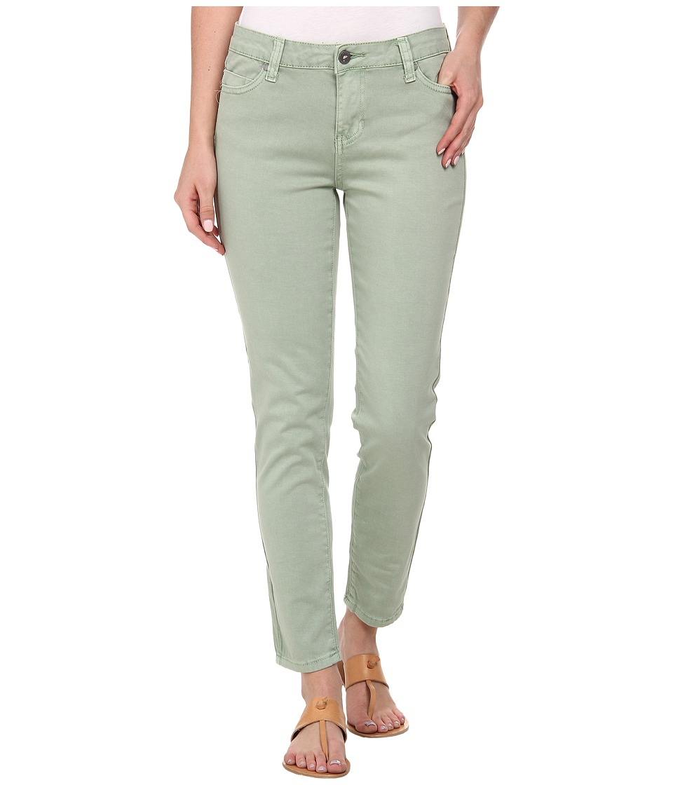 Liverpool - Pigment-Dyed Stretch Twill Penny Ankle Skinny (Basil Green) Women