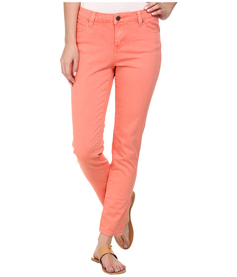 Liverpool - Pigment-Dyed Stretch Twill Penny Ankle Skinny (Coral Pink) Women