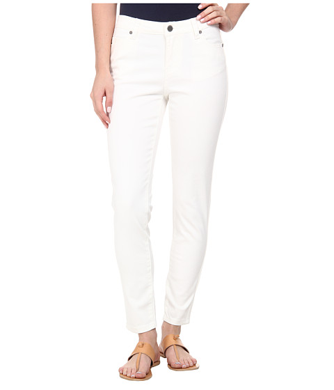 Liverpool - Pigment-Dyed Stretch Twill Penny Ankle Skinny (White) Women's Jeans