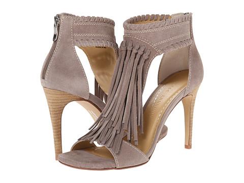 Chinese Laundry - Santa Fe Fringe Sandal (Grey FE Split Suede) High Heels