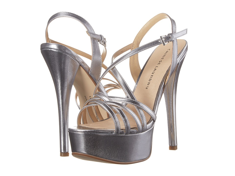 Chinese Laundry - Teaser Platform Sandal (Silver Metallic PU) High Heels