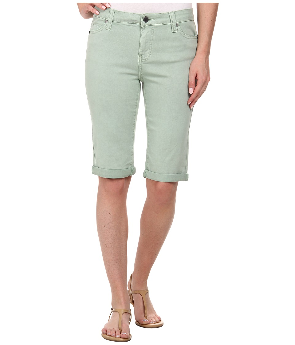 Liverpool - Pigment-Dyed Stretch Twill Maggie Bermuda Short (Basil Green) Women's Shorts