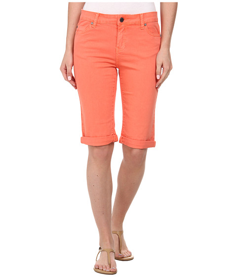 Liverpool - Pigment-Dyed Stretch Twill Maggie Bermuda Short (Coral Pink) Women