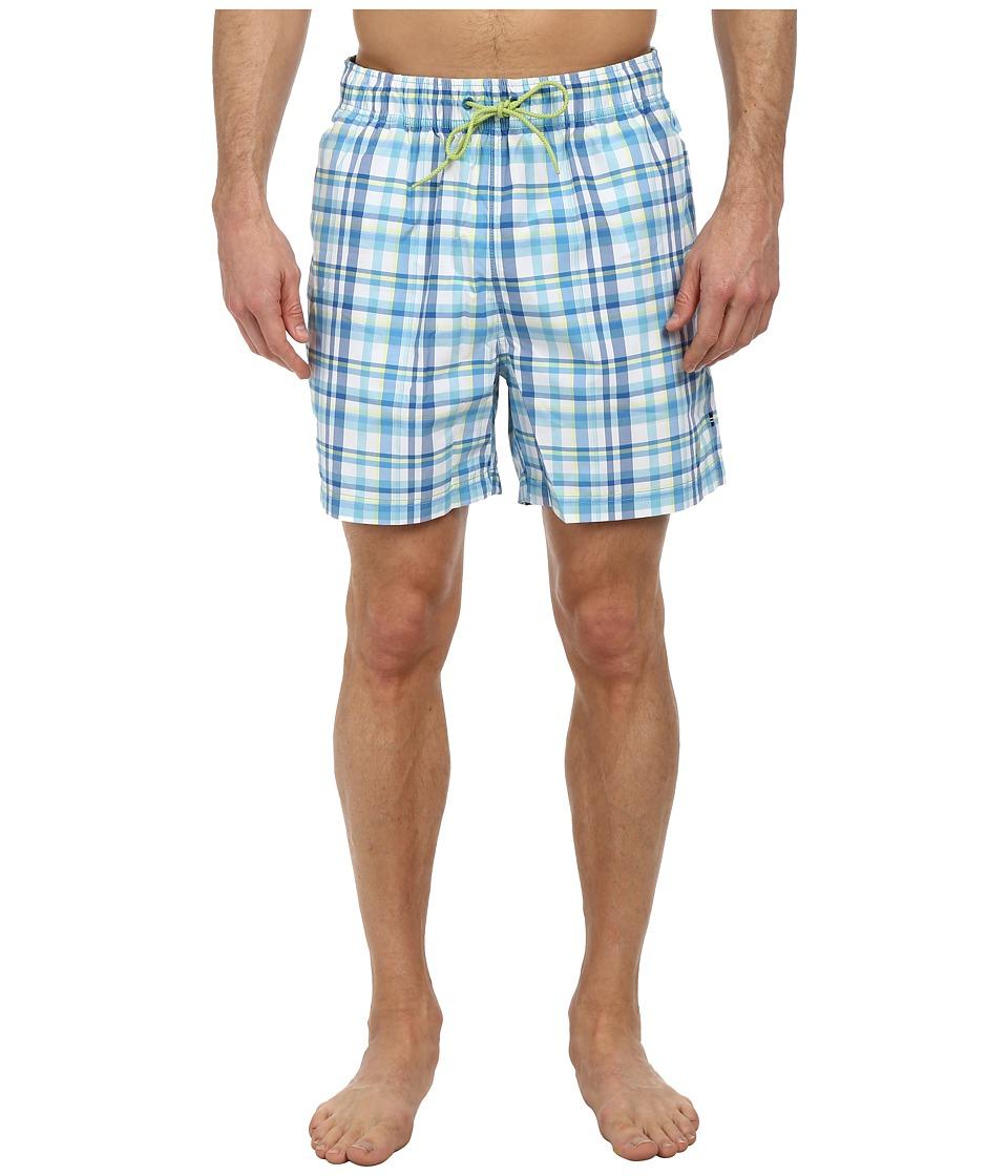Nautica - Plaid Trunk (Cabana Blue) Men