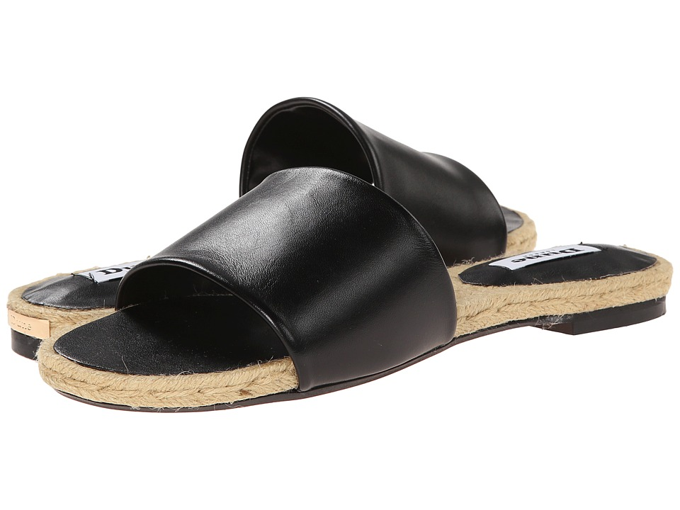 Dune London - Latted (Black Leather) Women's Slide Shoes
