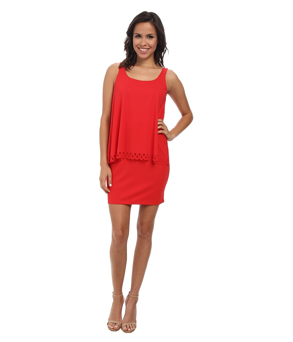 Susana Monaco Crew Overlay Dress (Morello) Women